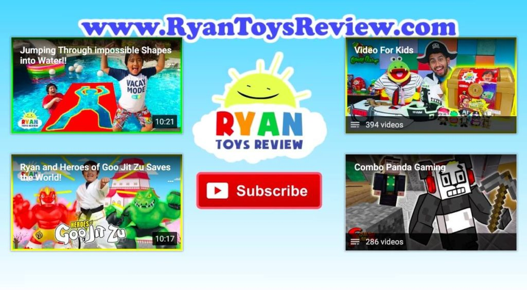 RyanToyReview YouTube Channel